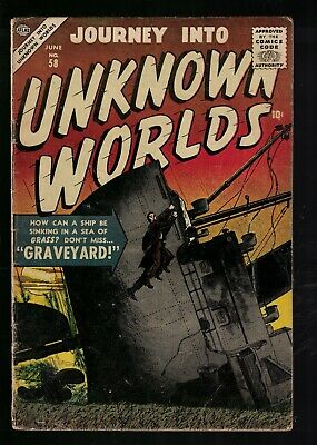 Atlas Marvel horror Journey into unknown worlds VG 4.0 58 Silver age 1957