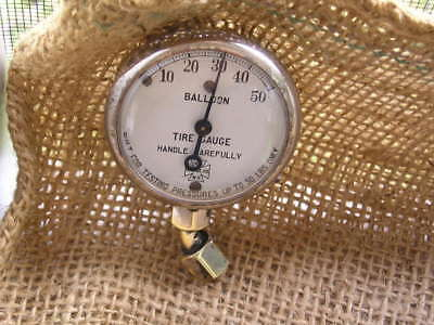 Vintage Display QUALITY US Antique Tire Gauge Model A T Ford Chevy Harley Tool