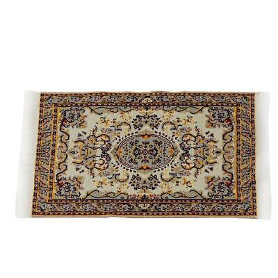 1:12 Miniature Woven Turkish Rug Carpet for Doll House Decoration Accessory Re