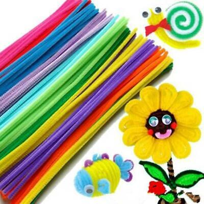 100PCS Chenille Craft Stems Pipe Cleaners 30cmx 6mm Kids Craft DIY Re