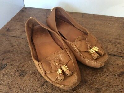 78ce08ca67c Tory Burch Tan Leather Moccasin Loafer Flats US 8   UK 6