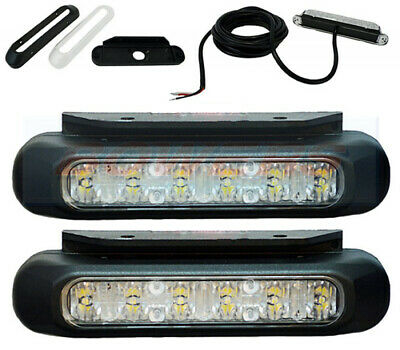 Pair Of (2) Compact Front Led Daylight Daytime Running Lights Lamps E-Approved