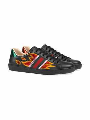 0325c290b3b Gucci Ace Flame Sneakers Black Brand New 100% Authentic Flames Size UK 6.5