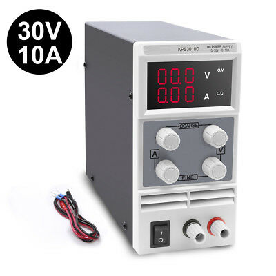Adjustable DC 0-30V 0-10A Bench Power Supply Precision Variable Digital Lab UK !