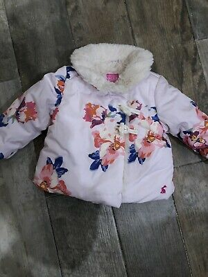 Joules Baby Girl Coat Aged 3-6 Months
