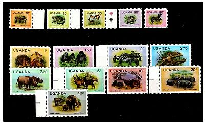 Uganda Animal Stamp Selection Mint No Hinge  Lot-133
