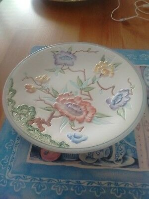 Wood And Sons England Chinese Rose Pattern Plate 8.5 cm In Diameter
