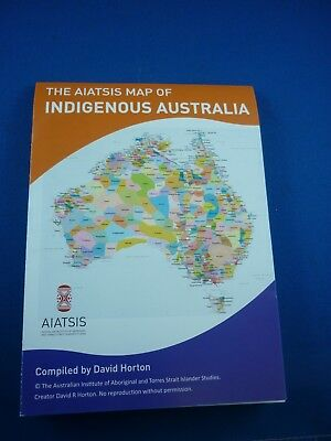 INDIGENOUS AUSTRALIA WALL MAP ( MINI ) David Horton  & AIATSIS ( Brand New  )