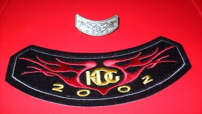 Harley Davidson HOG 2002 SET mit Aufnäher Pin Kutte Harley Owners Group Patch