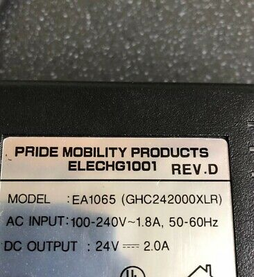 Genuine Pride Go Go Series Mobility Scooter 24 Volt 2 Amp Battery Charger.