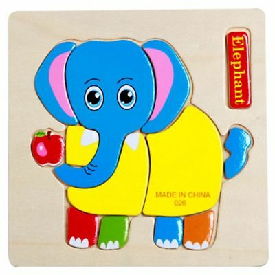 Elephant Wooden Puzzle Jigsaw Early Learning Pre-school Educational Toys