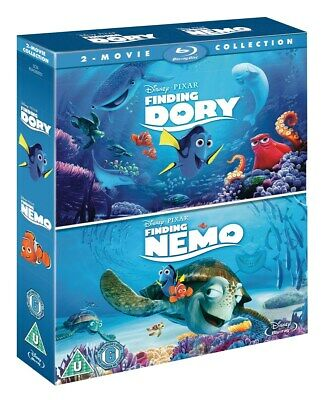 Finding Dory/ Finding Nemo Double Pack [Blu-ray], New Sealed