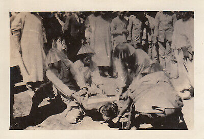 Original Pre-WWII Photo CHINESE BEHEADING EXECUTION 1930's Shanghai China 14