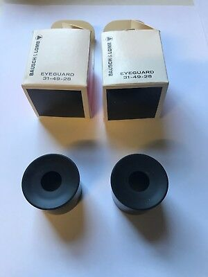 Brand New Bausch & Lomb Microscope Eye Guards 31-49-28 X 2