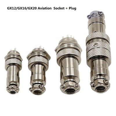 GX12/GX16/GX20 2-14Pin Electrical Aviation Connector Male Socket +Female Plug