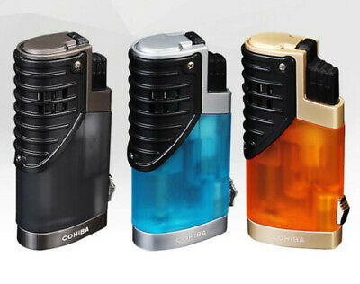 COHIBA Elegant Triple Jet Torch Flame Cigar Lighter Windproof With Punch