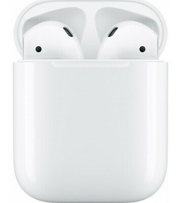 Apple AirPods NEW 2019 2nd Gen Wireless headset with Charging Case - MV7N2TY/A
