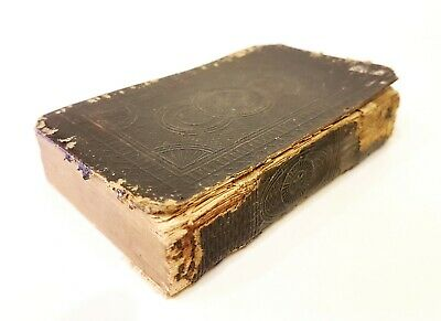 Antique book New Testament & Psalms J.Ostervald with Watkins Leather Binder 1857