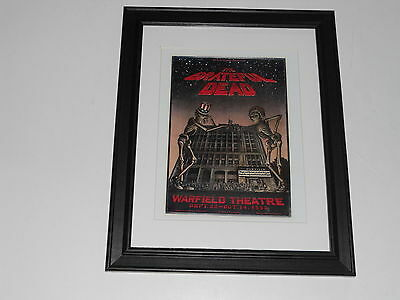 "Framed Grateful Dead Warfield San Francisco 9/25/1980  Mini-Poster, 14"" by 17"""