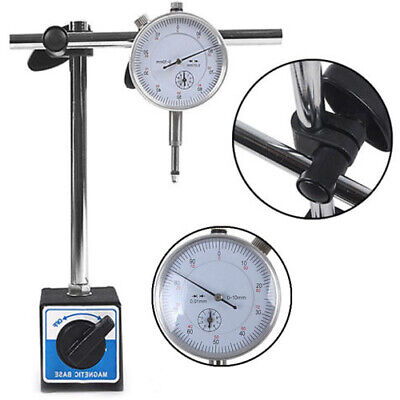 Metric Dti Dial Indicator Test Gauge With Stand & Magnetic Base Precision Clock