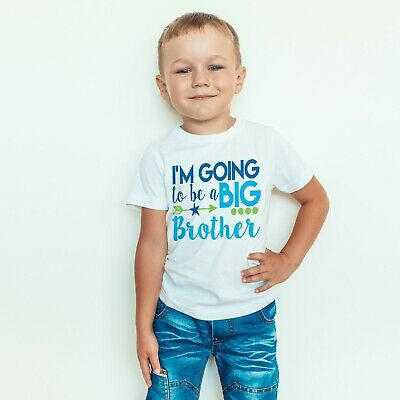 I'm Going To Be A Big Brother Boys Announcement Childrens Kids T-Shirt Top 561