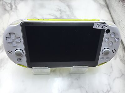 D5266 Sony PS Vita PCH-2000 console Lime Green / White Japan  w/Battery