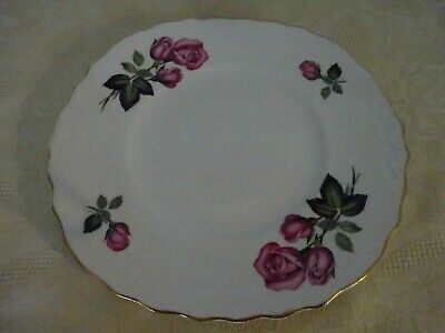 Royal Vale Bone China Cake Plate Pink Roses 23cm