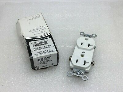 Legrand Pass & Seymour CR20WCC12 Commercial Grade Duplex Receptacle WHITE 20a