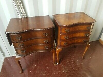 Beautiful Pair French Antique Bedside Tables