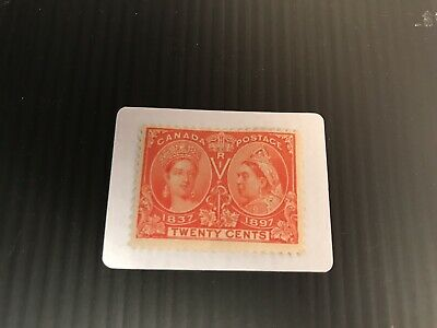Canada Mint Hinged QV Jubilee issue 20c Vermillion. SG 133. See Description.