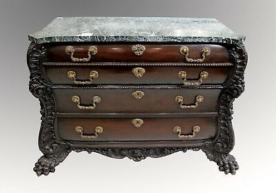 A Fantastic Carved Mahogany Commode Chest Of Drawers Possibly Portuguese