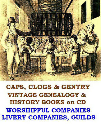 Worshipful Companies Livery Company Guilds Trades Drapers Vintage Books on Disc