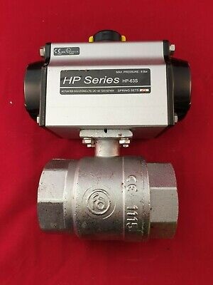 "Pneumatic Ball Valve 2"" BSP Nickel Plated Brass HP-63S"