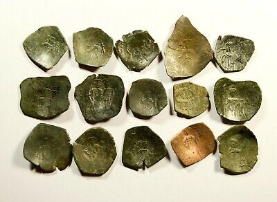 Lot Of 15 Ancient Byzantine Cup Coins - 057