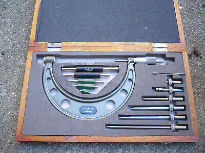 "BOXED MITUTOYO OUTSIDE MICROMETER 0"" TO 6"" SET No 104-137 COMPLETE & GWO"
