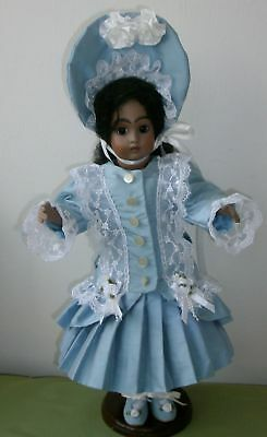 40cm FRENCH STYLE PURE SILK OUTFIT FOR YOUR ANTIQUE OR REPRODUCTION DOLL