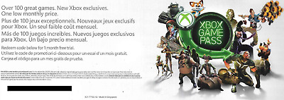 Xbox Live 1 Month Game Pass Trial Code