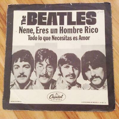 The Beatles *all You Need Is Love* 1967 Mexican Swirl Capitol Mono 45