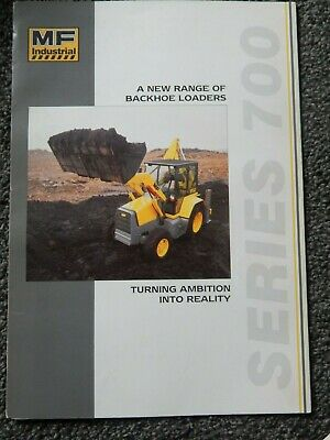 Massey Ferguson Series 700 Backhoe Loaders Brochure
