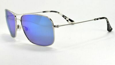 ad068cd5f2c Maui Jim WIKI WIKI MJ246-17 Titanium Silver   Blue Hawaii Polarized  Sunglasses