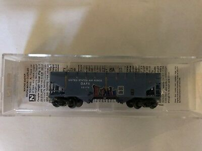 N Micro-Trains - US Air Force 2  Bay Hopper  - Grafittied-Weathered 05544500