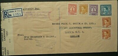 "Iraq 1944 Registered Airmail Postal Cover ""diplomatic Bag"" To London - Censored"