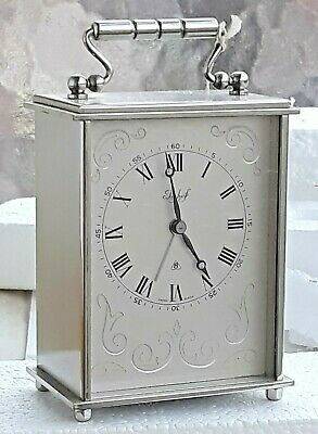Vintage Beautiful  IMHOF  Table Desk Clock With 8 Day Movement 1950´s