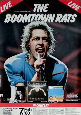 BOOMTOWN RATS - 1980 - Konzertplakat - Fine Art of... - Tourposter - Mannheim