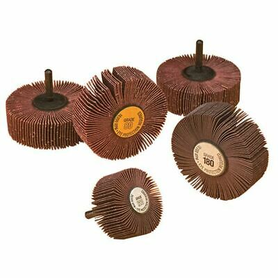 3 Drill Mounted Flap Wheels 2 x 1 x 60 Grit Italy New