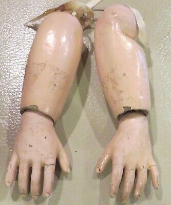"Antique Composition Hands 1 3/4"" for Antique French or German Bisque Doll"