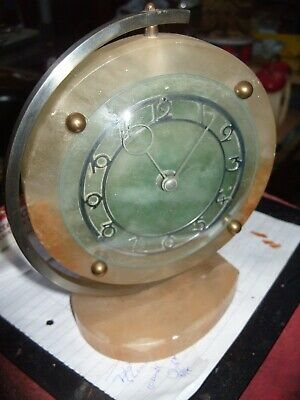 Clock Parts Smiths   Marble Clock  +  1 Movement Spares  To Repair