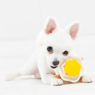 Food Dispenser Dog Cat Puppy Pet Feeder Eating Training Play Toy Clip - Yellow