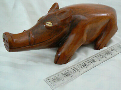 New Guinean Large Good Luck Carved Pig. Chinese New Year of Pig. Pigclan Totem