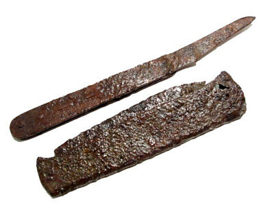 Lot Of Two Post Medieval Iron Folding Knifes+++ Top Condition+++